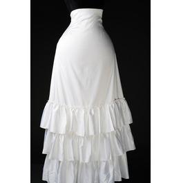 White 3 Layer Long Full Length Wedding Bustle Skirt $9 Worldwide Shipping