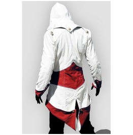 X X Assassin's Creed Xx White With Red Hooded Mens Jacket