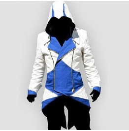 X X Assassin's Creed Xx Mens Hooded Jacket White/Blue