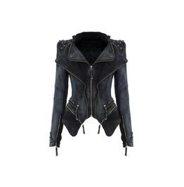 Studed Washed Denim Jacket