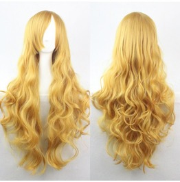 X X Gold Spun Xx Scene Wig Long Synthetic