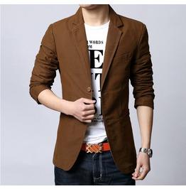 Men's Black/Brown/Beige Casual Jacket