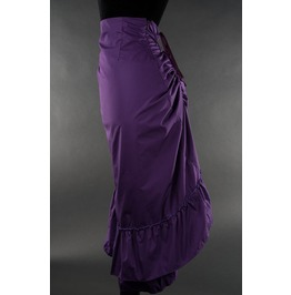 Purple Cotton Victorian Pirate Ruffled 2 Layer Back Bustle Skirt $9 To Ship