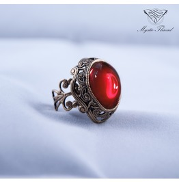Ruby Gem Victorian Ring