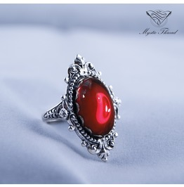 Ruby Gem Gothic Victorian Ring