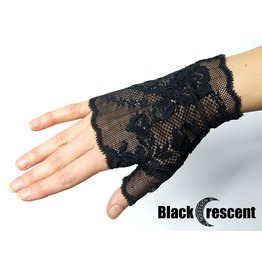 Pair Gothic Gloves, Black Lace,Vampire,Victorian,Burlesque,Wedding