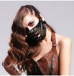 Gear Faux Leather Mask Mk008