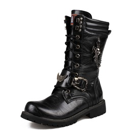 Men's Skull Martin Boots Men Army Boots