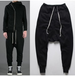 Men's Leisure Lace Up Harem Pants Joggers