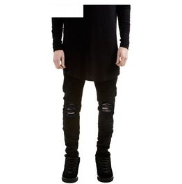 Men's Black Ripped Jeans