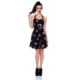 Jawbreaker Dotty Skulls And Roses Mini Prom Dress
