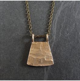 Primitive Handmade Bronze Pendant Necklace