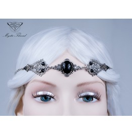 Jet Black Gem Elven Circlet
