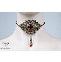 Ruby Gothic Victorian Choker, Please Select Neck Perimeter(Cm)