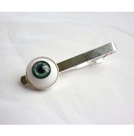 Blue Grey Eye Tie Bar