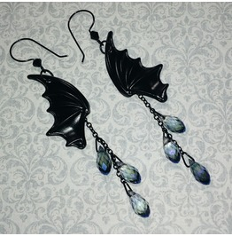 Black Bat Wing Earrings