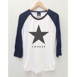 David Bowie 3 Ziggy Stardust Baseball Jersey Long Sleeve 3/4 T Shirt S,M,L