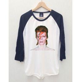 David Bowie 4 Ziggy Stardust Baseball Jersey Long Sleeve 3/4 T Shirt S,M,L