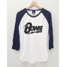 David Bowie 8 Ziggy Stardust Baseball Jersey Long Sleeve 3/4 T Shirt S,M,L