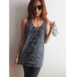 Japanese Joy Division Unknown Pleasure 2 Sides Print Pop Rock Vest Tank Top
