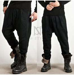 Incision Accent Drawcord Black Baggy Sweatpants 141