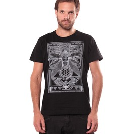 Black Quality T Shirt With Unique Artistic Graphic Print Free Shipping Usa