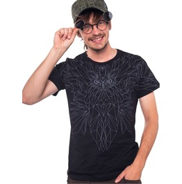 Hipsters Clothing Graphic Tee With Wings Quality T Shirt In Black Streetwear