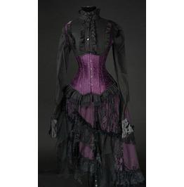 Deep Purple Black Lacy Victorian Ruffle Skirt $9 To Ship Worldwide