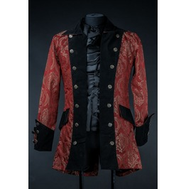 Red Royal Victorian Pirate Jacket $9 Worldwide Shipping