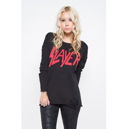 Iron Fist Clothing Womens Official Slayer Torn Sweater