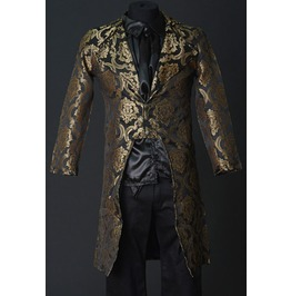 Mens Gold Royal Victorian Vampire Tailcoat Jacket $9 To Ship Worldwide
