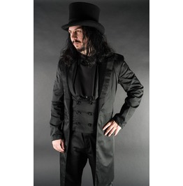 Mens Black Victorian Vampire Tailcoat Dracula Jacket $9 To Ship Worldwide