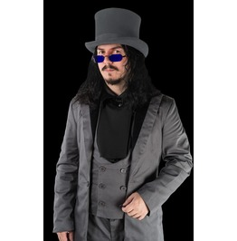 Mens Grey Victorian Vampire Tailcoat Dracula Jacket $9 To Ship Worldwide
