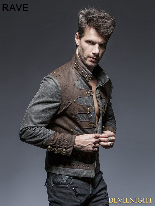Steampunk Short Jacket For Men 104468