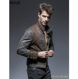 Steampunk Short Jacket For Men