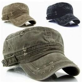 Vintage washed military short brim hat hats and caps