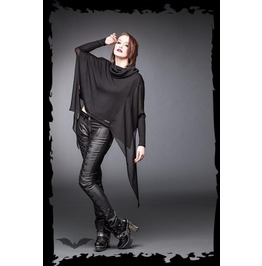 Black Big Collar Poncho Pointed Bat Wing Gothic Ghost Sweater $9 To Ship