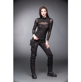 Black 2 Layer Spider Web Mesh Long Sleeve Gothic Shirt $9 To Ship Worldwide
