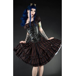 Black Brown Steampunk Gothic Rockabilly Pirate Dress $5 To Ship Worldwide