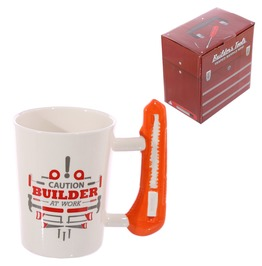 Egg N Chips London Safety Knife Builder At Work Coffee Mug