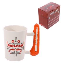 Egg N Chips London Safety Knife Builder At Work Coffee Mug