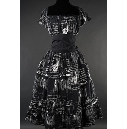Black Leonardo Di Vinci Invention Gothic Rockabilly Corset Dress $5 To Ship