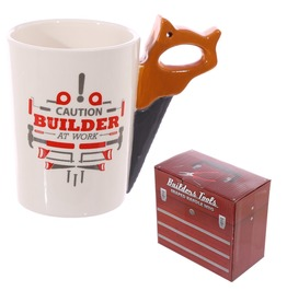 Egg N Chips London Saw Builder At Work Coffee Mug
