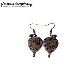 Hot Air Balloon Vintage Earrings
