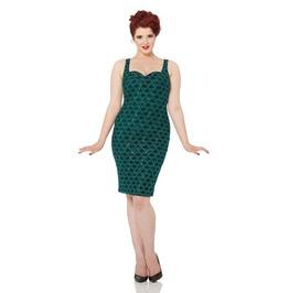Voodoo Vixen Fleur Mermaid Green Sequin Wiggle Dress