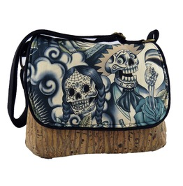 Sugar Skull Blue Tattoo Kelsi Ii Contigo With Cork Body Cross Body Purse