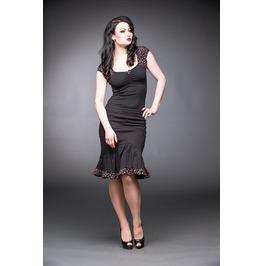 Black Rockabilly Strawberry Star Ruching Bow Skirt $9 Worldwide Shipping