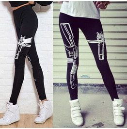 Machine Gun Stretch Skinny Leggings Pants