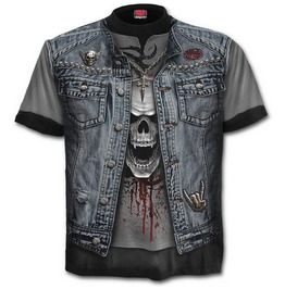 T Shirt Thrash Metal All Over Print Spiral Clothing