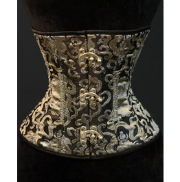 Steel Boned Gold Brocade Underbust Clasp Corset $9 Worldwide Shipping